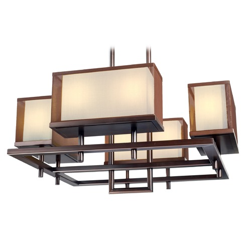 Maxim Lighting Maxim Lighting Hennesy Oil Rubbed Bronze LED Pendant Light with Rectangle Shade 43444CSOI
