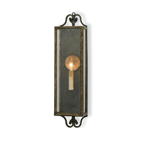 Currey and Company Lighting Plug-In Wall Lamp in Bronze Verdigris Finish 5030