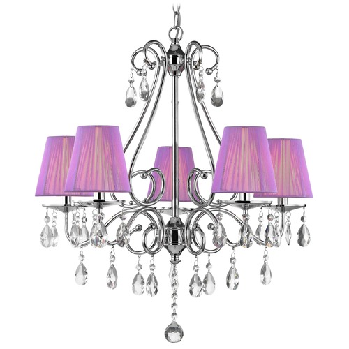 Ashford Classics Lighting Crystal 5-Light Chandelier with String Shades 2288
