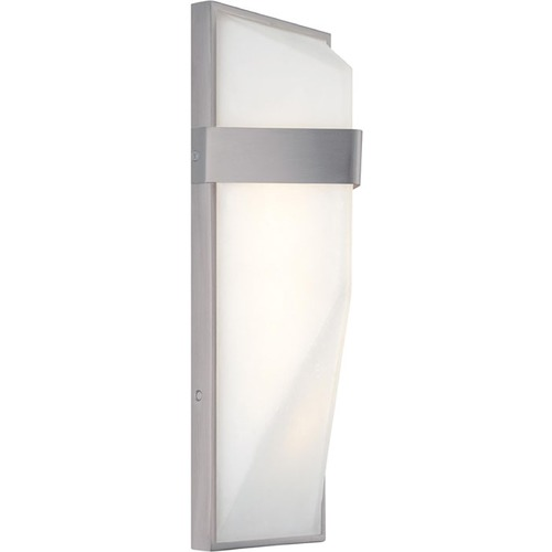 George Kovacs Lighting Minka Pocket Silver Dust LED Outdoor Wall Light P1237-566-L