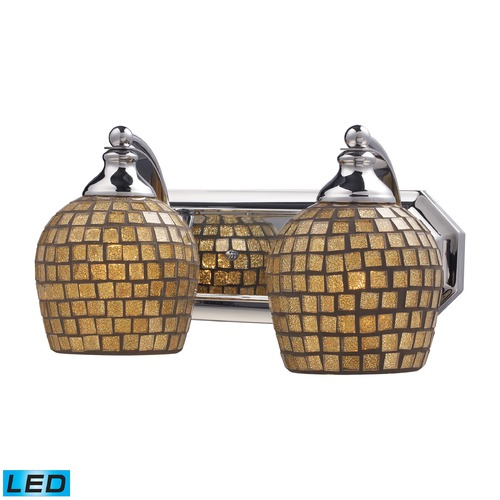 Elk Lighting Elk Lighting Bath and Spa Polished Chrome LED Bathroom Light 570-2C-GLD-LED