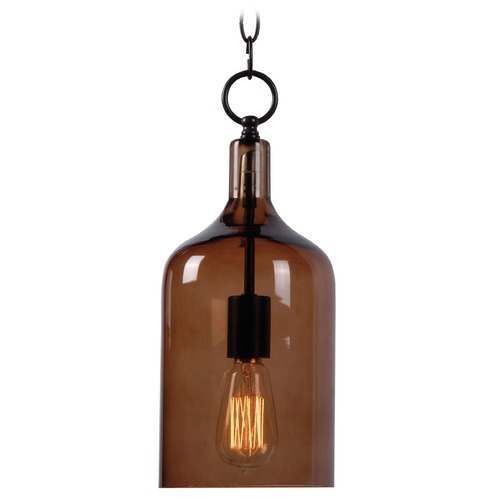 Kenroy Home Lighting Mid-Century Modern Mini-Pendant Light Oil Rubbed Bronze Capri by Kenroy Home 91831AMB