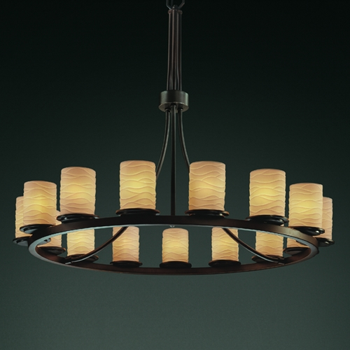 Justice Design Group Justice Design Group Limoges Collection Chandelier POR-8715-10-WAVE-DBRZ