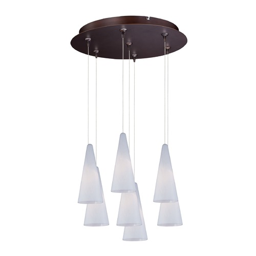 ET2 Lighting Minx Bronze Multi-Light Pendant with Conical Shade E93728-101BZ