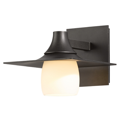 Hubbardton Forge Lighting Hubbardton Forge Lighting Hood Dark Smoke Outdoor Wall Light 306560-07-G345