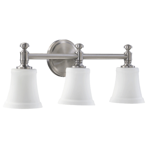 Quorum Lighting Quorum Lighting Satin Nickel Bathroom Light 5122-3-65