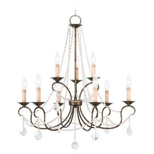 Livex Lighting Livex Lighting Pennington Venetian Golden Bronze Crystal Chandelier 6519-71