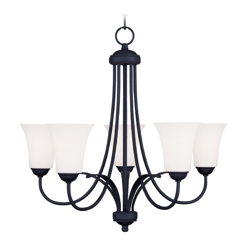 Livex Lighting Livex Lighting Ridgedale Black Chandelier 6475-04