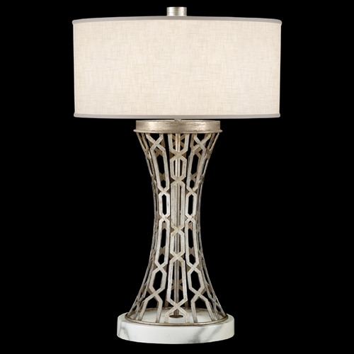 Fine Art Lamps Fine Art Lamps Allegretto Silver Platinized Silver Leaf with Subtle Brown Highlights Table Lamp with 784910ST