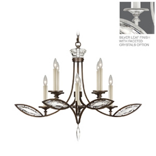 Fine Art Lamps Fine Art Lamps Marquise Platinized Silver Leaf Crystal Chandelier 843640-12ST