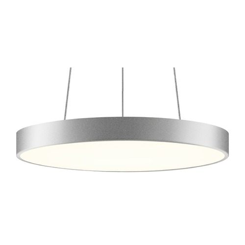 Sonneman Lighting Sonneman Pi Bright Satin Aluminum LED Pendant Light with Drum Shade 2742.16