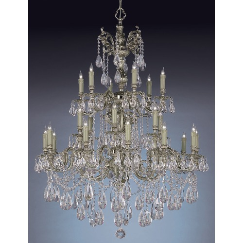 Crystorama Lighting Crystorama Lighting Novella Olde Brass Crystal Chandelier 2724-OB-CL-S