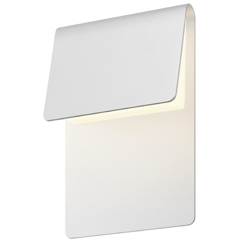 Sonneman Lighting Sonneman Ply Textured White LED Outdoor Wall Light 7230.98-WL