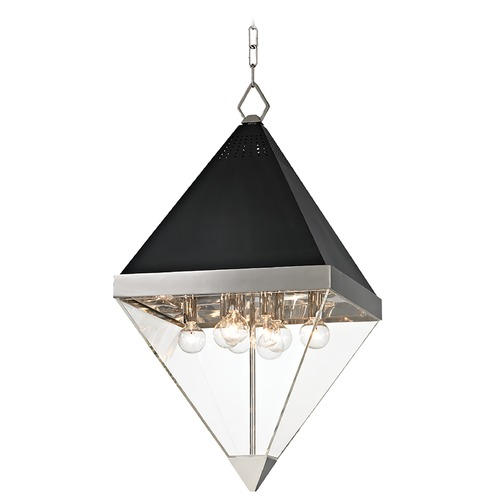 Hudson Valley Lighting Mid-Century Modern Pendant Light Polished Nickel Coltrane by Hudson Valley Lighting 4515-PN