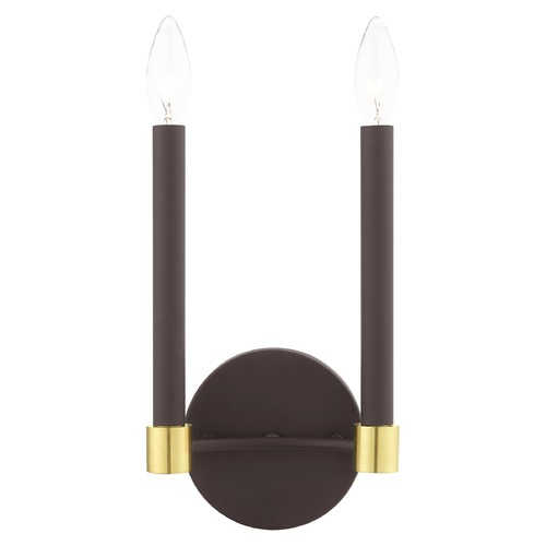 Livex Lighting Livex Lighting Karlstad Bronze with Satin Brass Accents Sconce 46882-07