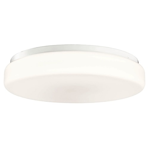 Kichler Lighting Kichler Modern Flushmount Light with White Glass in White Finish 10891WH