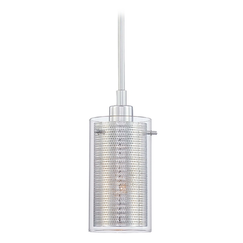 George Kovacs Lighting Modern Mini-Pendant Light with Clear Glass P961-077