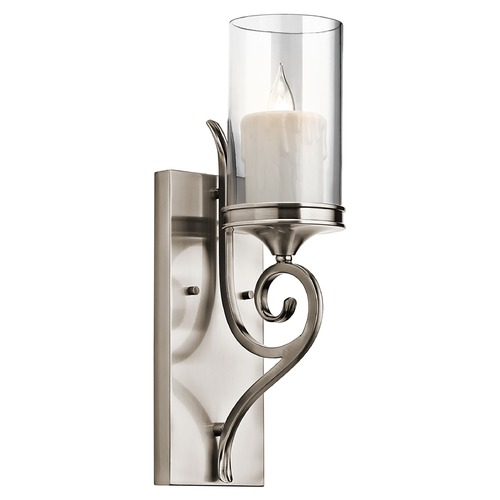 Kichler Lighting Kichler Sconce Wall Light with Clear Glass in Classic Pewter Finish 45362CLP