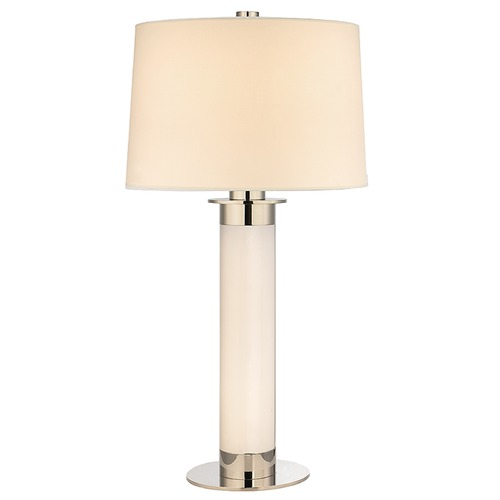 Hudson Valley Lighting Thayer 1 Light Table Lamp Drum Shade - Polished Nickel L325-PN