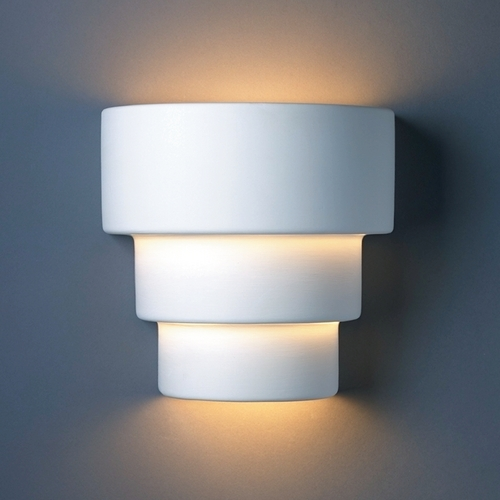 Justice Design Group Sconce Wall Light in Bisque Finish CER-2225-BIS