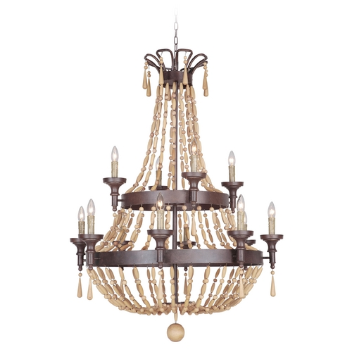 Jeremiah Lighting Jeremiah Lighting Berkshire Aged Bronze Textured Chandelier 36812-AG