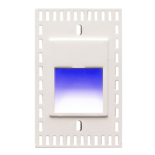 WAC Lighting WAC Lighting Ledme White LED Recessed Step Light with Blue LED WL-LED200TR-BL-WT