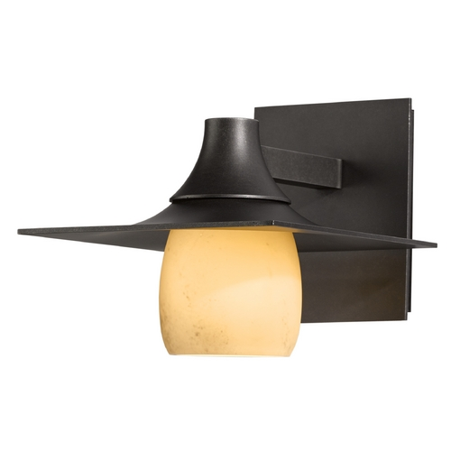 Hubbardton Forge Lighting Hubbardton Forge Lighting Hood Dark Smoke Outdoor Wall Light 306560-07-H345