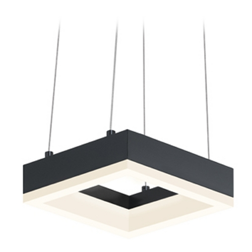Sonneman Lighting Sonneman Lighting Corona Satin Black LED Mini-Pendant Light 2302.25