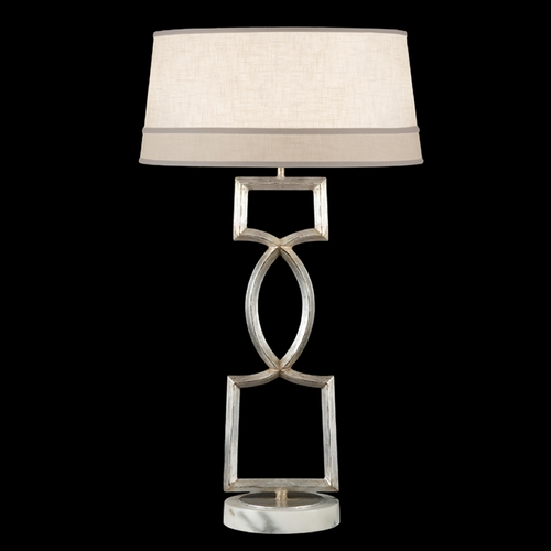Fine Art Lamps Fine Art Lamps Allegretto Silver Platinized Silver Leaf with Subtle Brown Highlights Table Lamp with 785010ST