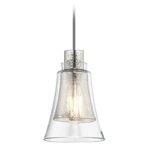Kichler Lighting Kichler Lighting Evie Mini-Pendant Light with Bell Shade 43629NI