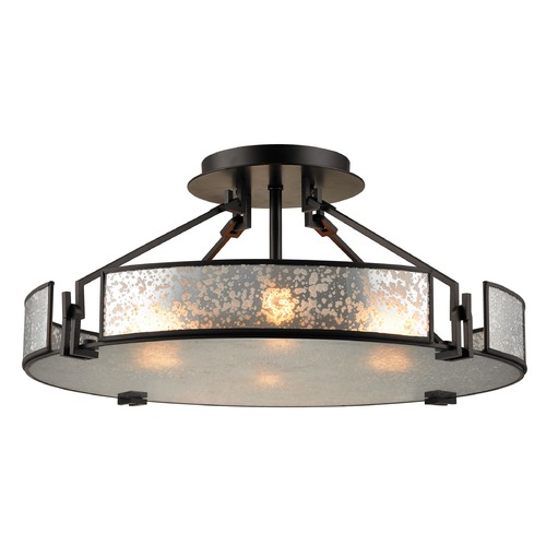 Elk Lighting Elk Lighting Lindhurst Oil Rubbed Bronze Semi-Flushmount Light 57091/4