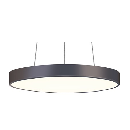 Sonneman Lighting Sonneman Pi Black Bronze LED Pendant Light with Drum Shade 2742.32