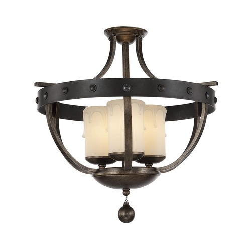 Savoy House Savoy House Lighting Alsace Reclaimed Wood Semi-Flushmount Light 6-9545-3-196
