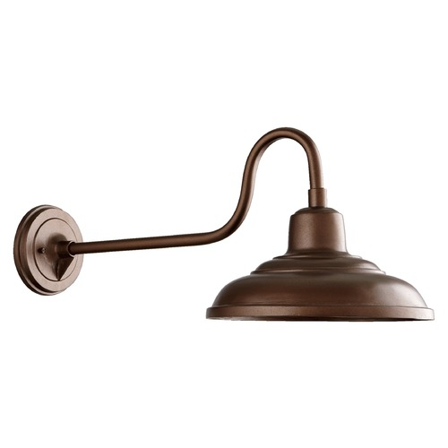 Quorum Lighting Farmhouse Outdoor Wall Light Oiled Bronze by Quorum Lighting 771-86