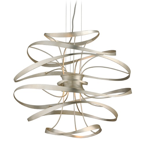 Corbett Lighting Corbett Lighting Calligraphy Silver Leaf and Polished Stainless Accents LED Pendant Light 213-42