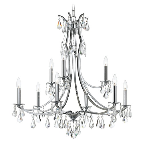 Crystorama Lighting Crystorama Lighting Cedar Polished Chrome Crystal Chandelier 5939-CH-CL-MWP