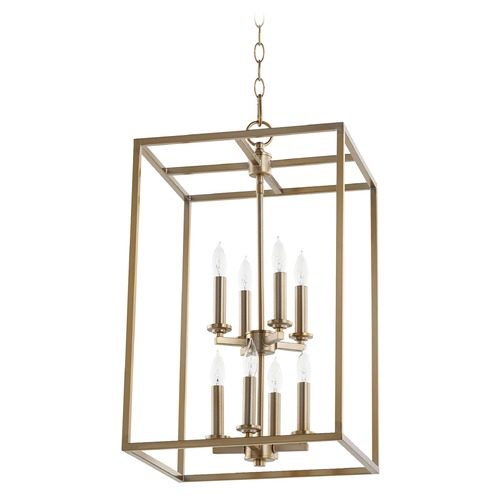 Quorum Lighting Quorum Lighting Aged Brass Pendant Light 6731-8-80