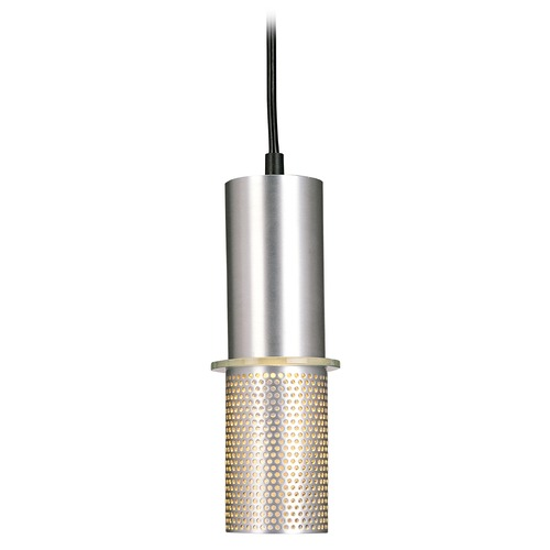 George Kovacs Lighting Modern Mini-Pendant Light in Satin Aluminum Finish P9451-2-614