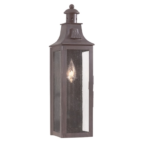 Troy Lighting Outdoor Wall Light with Clear Glass in Old Bronze Finish BCD9007OBZ