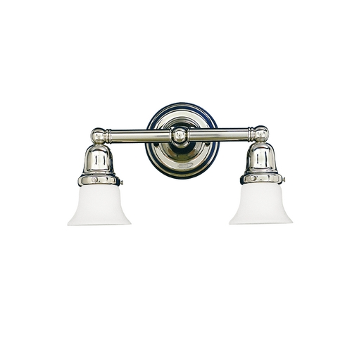 Hudson Valley Lighting Bathroom Light with White Glass in Old Bronze Finish 862-OB-341