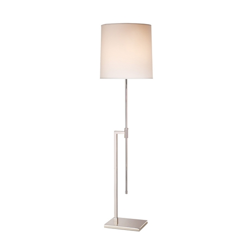 Sonneman Lighting Modern Floor Lamp with White Shade in Polished Nickel Finish 7008.35