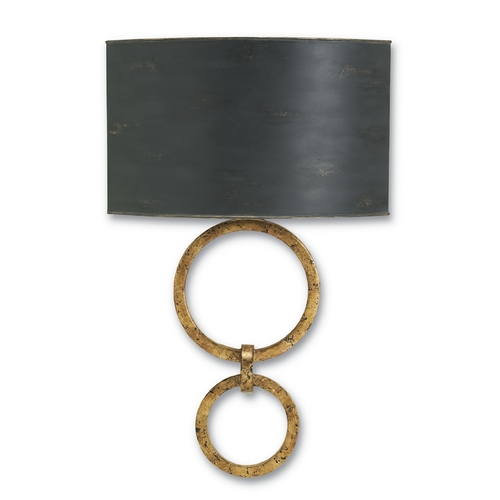 Currey and Company Lighting Currey and Company Lighting Gold Leaf / French Black Sconce 5910
