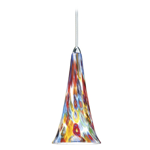 WAC Lighting Wac Lighting European Collection Chrome Mini-Pendant with Conical Shade MP-614-MF/CH