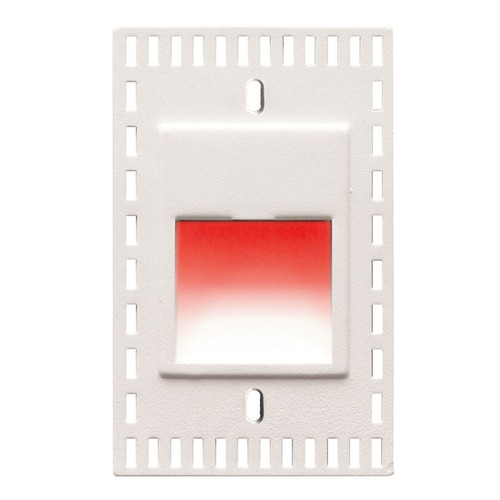 WAC Lighting WAC Lighting Ledme White LED Recessed Step Light with Red LED WL-LED200TR-RD-WT