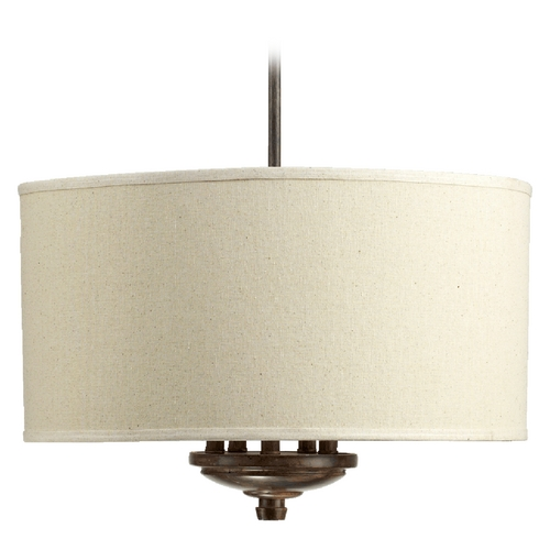 Quorum Lighting Quorum Lighting Telluride Early American Pendant Light with Drum Shade 8166-5-21