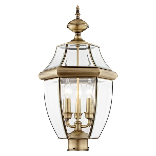 Livex Lighting Livex Lighting Monterey Antique Brass Post Light 2354-01
