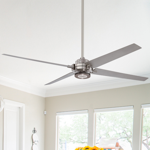 Minka Aire 60-Inch Minka Aire Spectre Brushed Nickel W/silver LED Ceiling Fan with Light F726-BN/SL