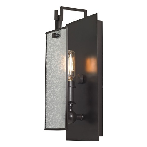 Elk Lighting Mercury Glass Sconce Oil Rubbed Bronze Elk Lighting 57090/1