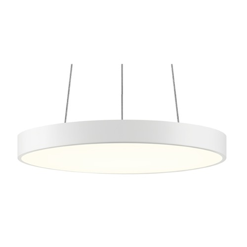 Sonneman Lighting Sonneman Pi Textured White LED Pendant Light with Drum Shade 2742.98