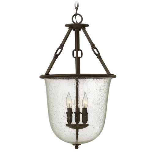 Hinkley Lighting Hinkley Lighting Dakota Oil Rubbed Bronze Pendant Light with Urn Shade 4783OZ